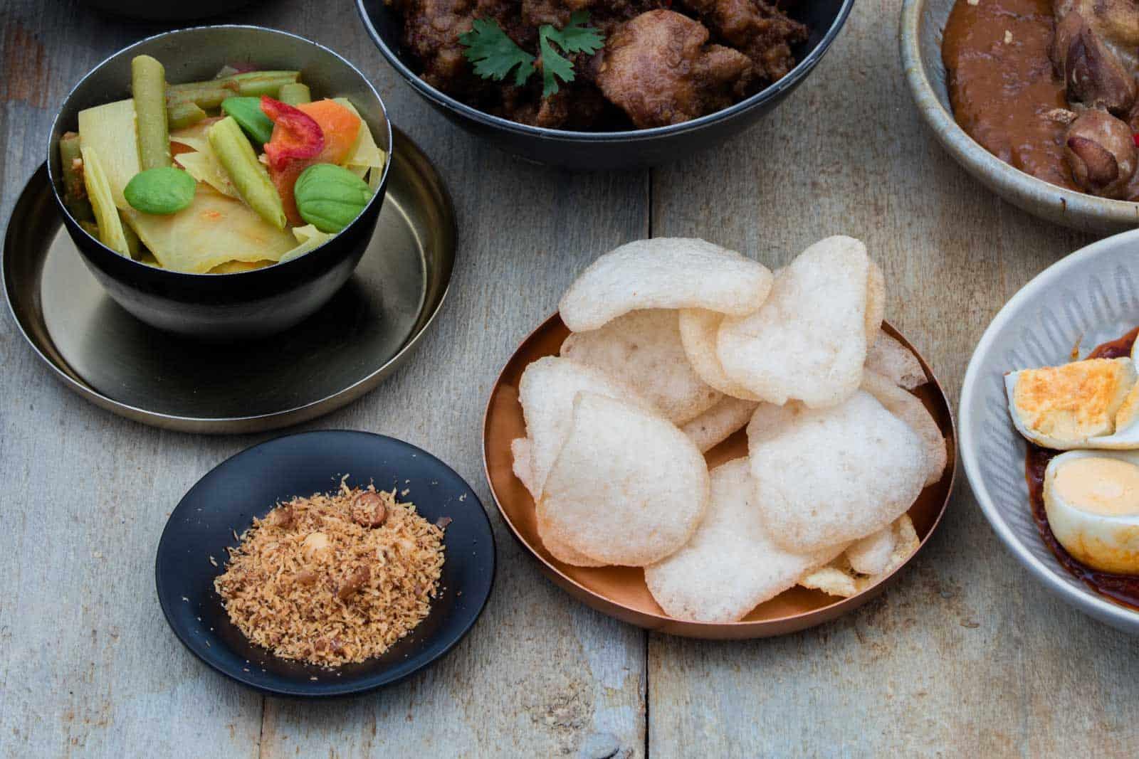Indische garnering rijsttafe